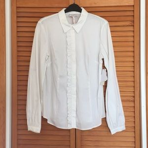 Laundry by Shelli Segal Classic white shirt